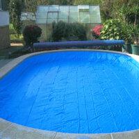 Pool Sicherheitsabdeckung Pro Tect Rundpool 400 cm blau