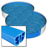 Pool Achtform 855 x 500 x 120 cm - 0,8 mm blau...