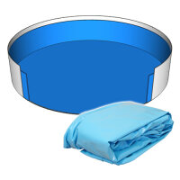 Poolfolie Rund Pool 350 x 150 cm - 0,8 mm blau