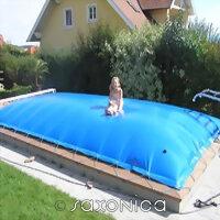 Aufblasbare Abdeckung für Rechteck Pool -...