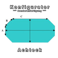 Aufblasbare Abdeckung für 8-Eck Pool - Konfigurator...