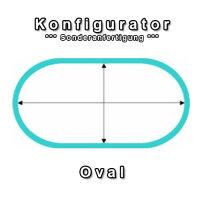 Aufblasbare Abdeckung für Oval Pool - Konfigurator...