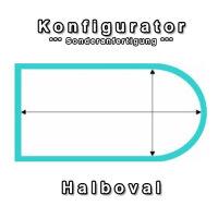 Aufblasbare Abdeckung Halboval Pool - Konfigurator...