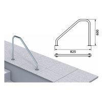 Pool Griffbogen/Treppenhandlauf aus V4A-Edelstahl poliert