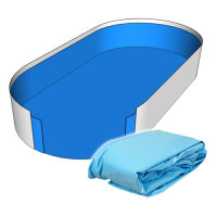 Poolfolie Ovalform Pool 700 x 350 x 150 cm - 0,8 mm blau...