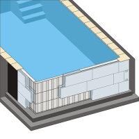 Rechteck Pool 800 x 400 x 150 cm EPS 30 | Grund-Set |...