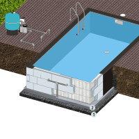 Rechteck Pool 800 x 400 x 150 cm EPS 40 | Grund-Set |...