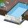 Rechteck Pool 700 x 350 x 150 cm EPS 30   Starter-Set   inkl.Vlies und Poolfolie blau   ausgebildete Ecken