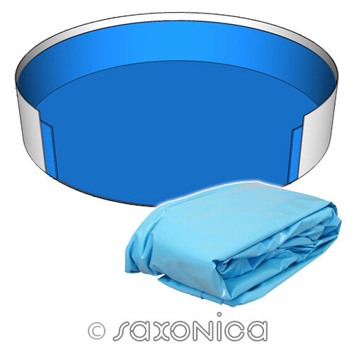 Poolfolie Rund Pool 300 x 120 cm - 0,6 mm blau