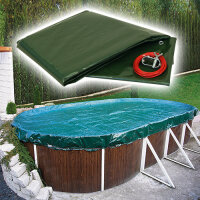 Pool Abdeckplane Ovalbecken PEB Oval 490 x 300, 180 g/qm