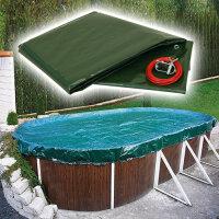 Pool Abdeckplane Ovalbecken PEB Oval 800 x 400 cm, 180 g/qm