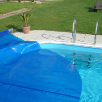 Pool Solar ISO Abdeckplane Oval Achtform Pool 490 x 300...