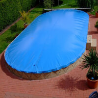 Aufblasbare Pool Abdeckung für Ovalpool 630 x 360 cm...