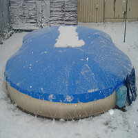 Aufblasbare Pool Abdeckung für Achtformpool 470 x...