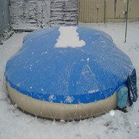 Aufblasbare Pool Abdeckung für Achtformpool 650 x...